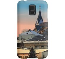 Winter scenery with village skyline | architectural photography Samsung Galaxy Case/Skin