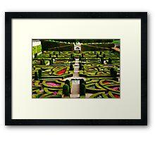 Jardin d'Amour - Villandry Framed Print