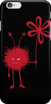Evil Flower Bug Black IPhone Case by Boriana Giormova