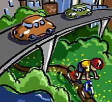 Urban Biking by John Hinderliter