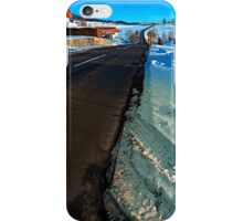 Winter road into far distance | landscape photography iPhone Case/Skin