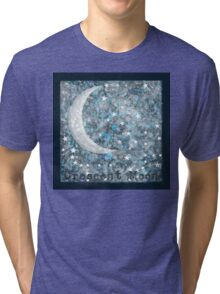 Crescent moon galaxy Tri-blend T-Shirt