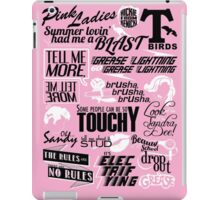 Quoted Print (Grease) iPad Case/Skin