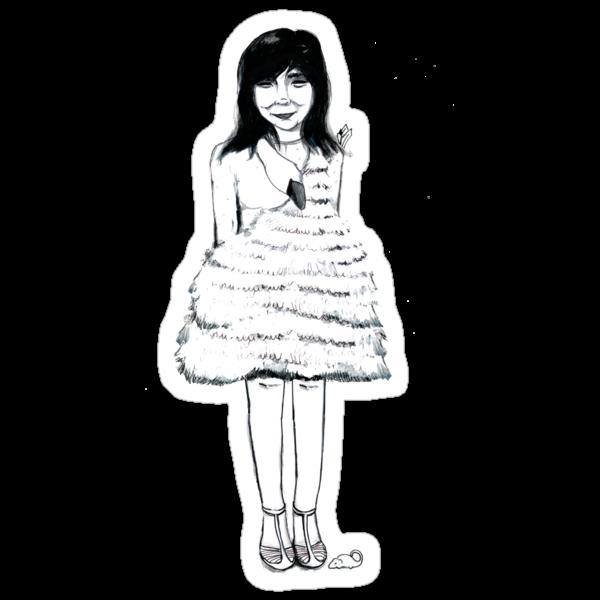 Bjork Swan Dress Tee by burntfeather