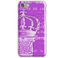 Antique French column and crown iPhone Case/Skin