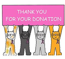 Thank you for your donation, pink ribbon breast cancer cats. by KateTaylor