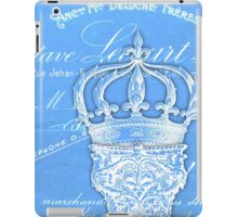 Vintage French column and crown iPad Case/Skin