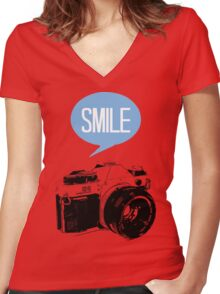 Smile Women's Fitted V-Neck T-Shirt