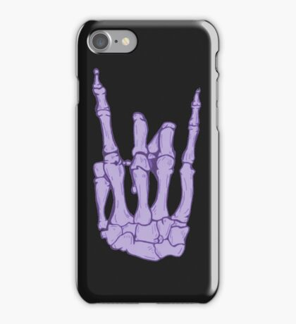 Skeleton hand | Lilac iPhone Case/Skin