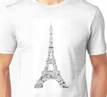 Vintage Eiffel Tower collage Unisex T-Shirt