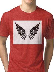 Black Angel wings Tri-blend T-Shirt