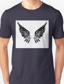 Black Angel wings Unisex T-Shirt