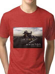 Dassault Rafale Fighter Jet Tri-blend T-Shirt
