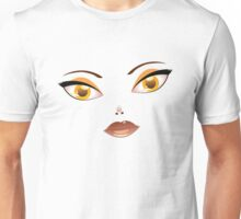 Face with Yellow eyes 2 Unisex T-Shirt