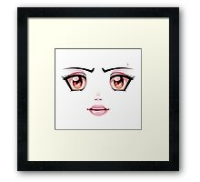 Unhappy Face Framed Print