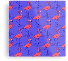 Fifties Flamingo Metal Print