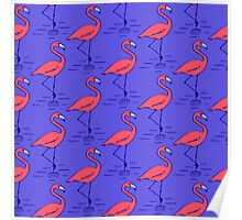 Fifties Flamingo Poster