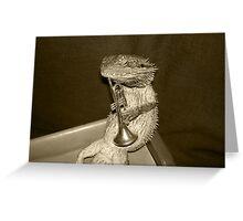 Lizard Trumpeter Greeting Card