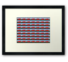 Funky Classic Automobile Collage Art Framed Print