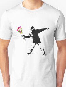 Banksy Flower Bomber Recreation T-Shirt