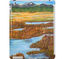 Marshlands landscape painting impressionism art iPad Case/Skin