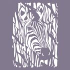 Zebra Project No.1- big logo white print by Alan Hogan