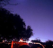 red tracktor and moon by armanda