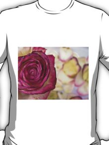 Pink rose with petals 9 T-Shirt