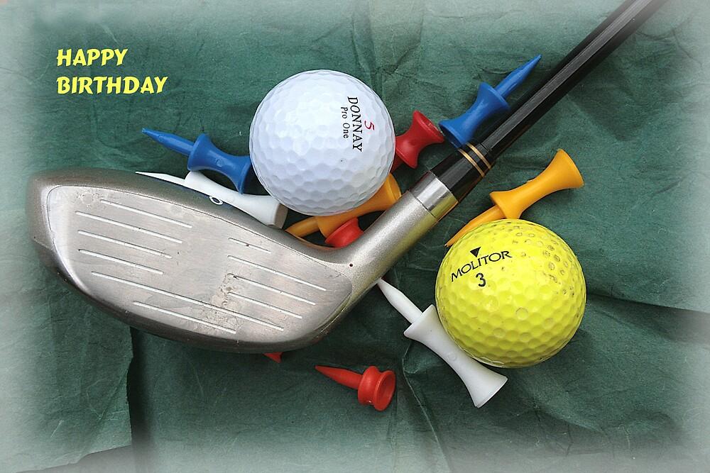 Golfers' Birthday Card by BizziLizzy
