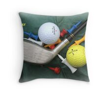 Golfers' Birthday Card Throw Pillow