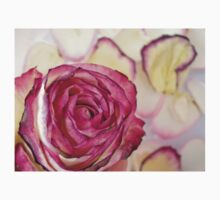 Pink rose with petals 10 Baby Tee