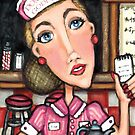 Retro Diner Diva Art Print by Jamiecreates1