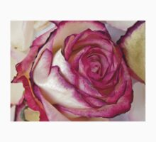 White Pink rose with petals 2 Kids Tee