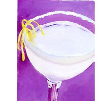 purple white cocktail Photographic Print