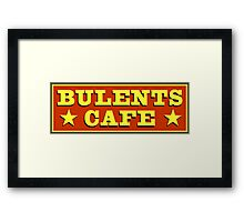 Bulents Cafe Mugs, T-Shirts and more! From Count Arthur Strong Framed Print