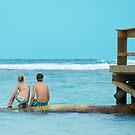 Siblings at Ocean by John Kroetch