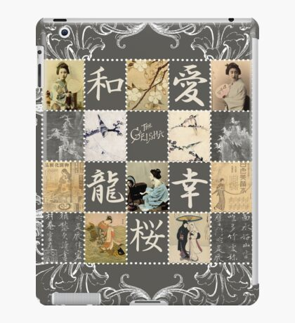 Japanese collage vintage stamps and illustration iPad Case/Skin