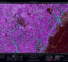Maine USGS Historical Map Portland 330416 1963 250000 Inversion by wetdryvac