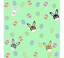 Easter Bunnies with Easter Eggs Photographic Print