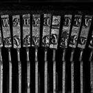 Old Typewriter Keys by Edward Fielding