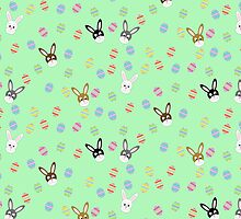 Easter Bunnies with Easter Eggs by CraftyChloe23