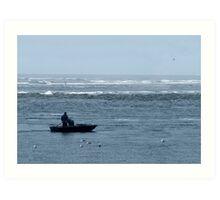 Two Fishermen at Sea Art Print