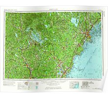 Maine USGS Historical Map Portland 330416 1963 250000 Poster