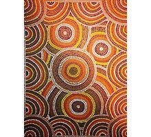 Earthy Australian Aboriginal Dots Photographic Print