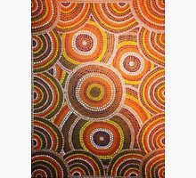 Earthy Australian Aboriginal Dots Womens Fitted T-Shirt
