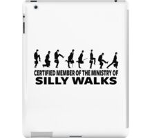 Certified Member Of The Ministry Of Silly Walks iPad Case/Skin