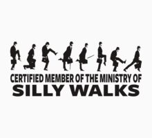 Certified Member Of The Ministry Of Silly Walks Kids Tee