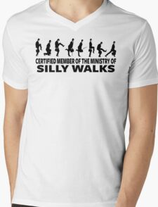 Certified Member Of The Ministry Of Silly Walks Mens V-Neck T-Shirt