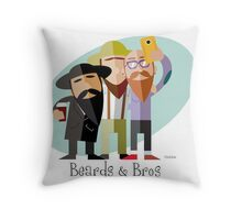 Beards & Bros Throw Pillow