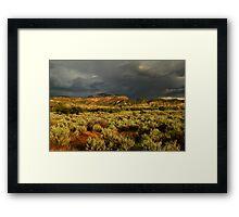 Stormy Utah Landscape Framed Print
